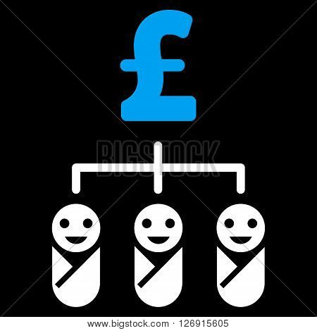 Kid Pound Budget vector icon. Kid Pound Budget icon symbol. Kid Pound Budget icon image. Kid Pound Budget icon picture. Kid Pound Budget pictogram. Flat kid pound budget icon.