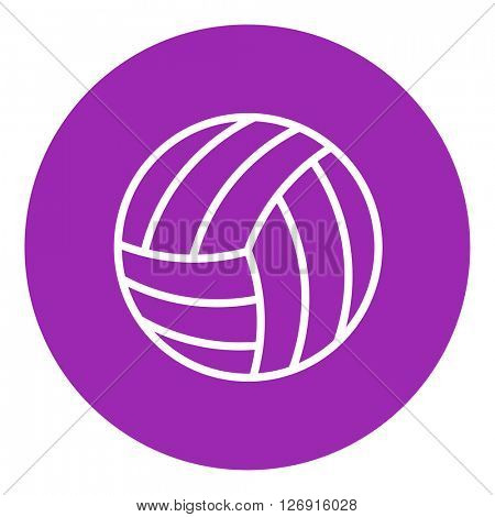Volleyball ball line icon.