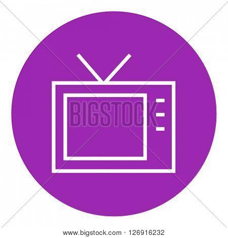 Retro television line icon.