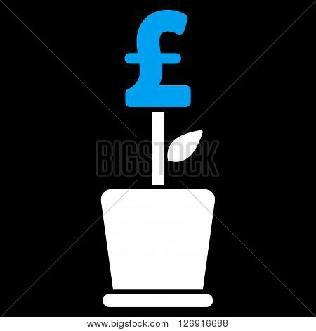 Pound Business Project Plant vector icon. Pound Business Project Plant icon symbol. Pound Business Project Plant icon image. Pound Business Project Plant icon picture.
