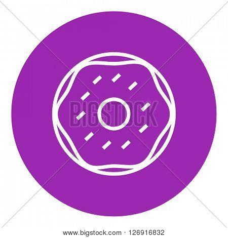 Doughnut line icon.