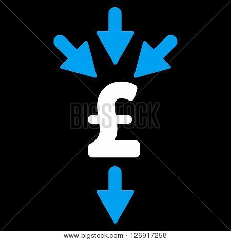 Pound Combine Payments vector icon. Pound Combine Payments icon symbol.