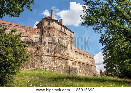 Horsovsky Tyn Castle, large Gothic castle, Czech republic