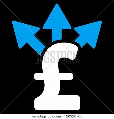 Split Pound Payment vector icon. Split Pound Payment icon symbol. Split Pound Payment icon image. Split Pound Payment icon picture. Split Pound Payment pictogram. Flat split pound payment icon.