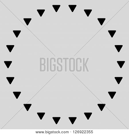 Dotted Circle vector icon. Dotted Circle icon symbol. Dotted Circle icon image. Dotted Circle icon picture. Dotted Circle pictogram. Flat black dotted circle icon. Isolated dotted circle icon graphic.