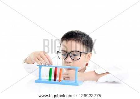 Boy Experimental In The Lab
