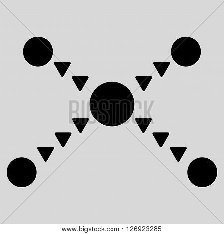 Dotted Links vector icon. Dotted Links icon symbol. Dotted Links icon image. Dotted Links icon picture. Dotted Links pictogram. Flat black dotted links icon. Isolated dotted links icon graphic.