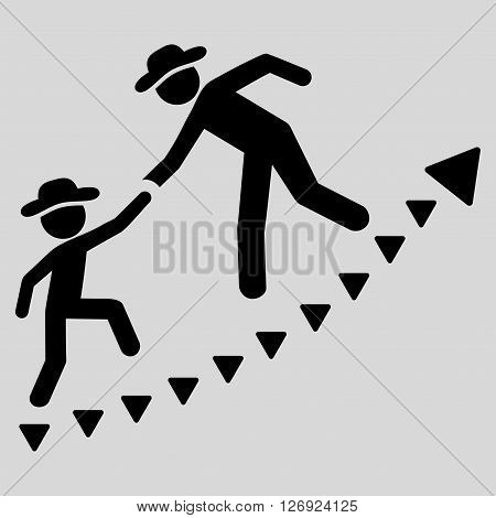 Gentlemen Education Growth vector icon. Gentlemen Education Growth icon symbol. Gentlemen Education Growth icon image. Gentlemen Education Growth icon picture. Gentlemen Education Growth pictogram.