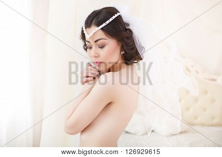 Young Bride Getting Ready