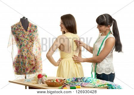 The Seamstress Tries On A Product