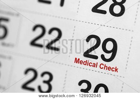 Medical Check Up Reminder