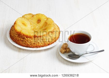 Rich Upside Down Cake With Pineapple