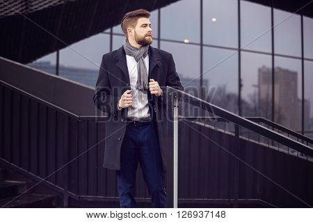 Male Model Presenting Newest Men Fashion