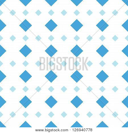 Rhomb vector seamless pattern. Geometric seamless texture with rhombs. Rhombic wallpaper design. Blue rhombs on white background. EPS8 vector illustration. Pattern swatch included.