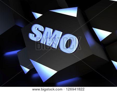 SMO - Social media optimization - computer generated image 3D render