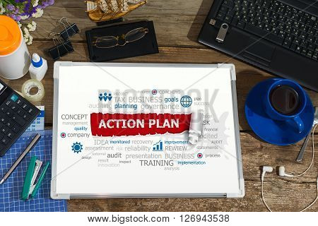 Action Plan Concept For Business, Consulting, Finance