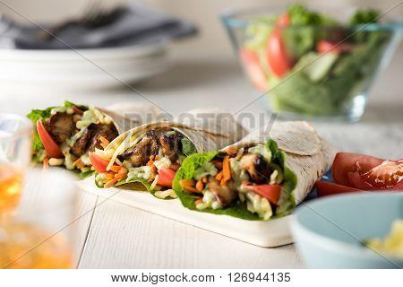 Grilled Chicken Burrito Wraps