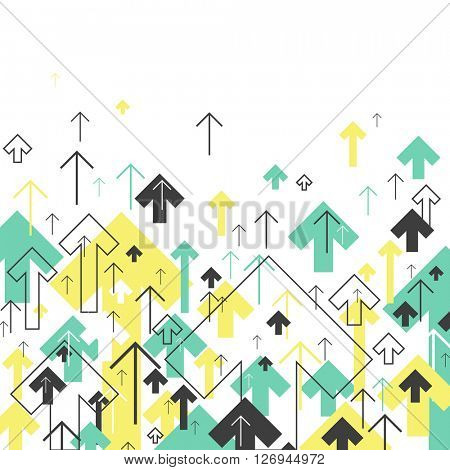 Abstract Success Arrows Up. Motion Up. Successful Concept Cover Design