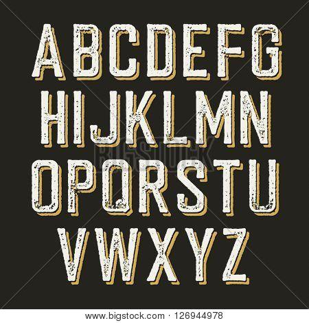 Vintage alphabet letters.