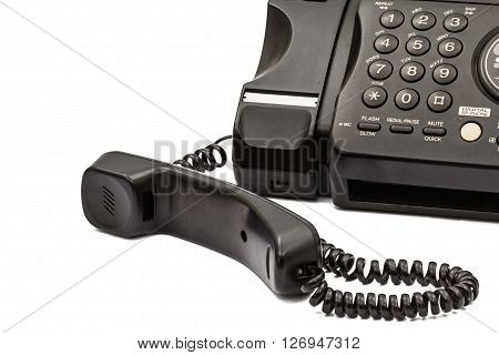 Fax machine isolated on a white background