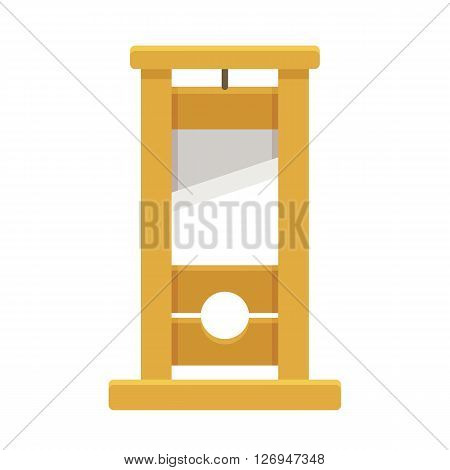 Guillotine isolated illustration in flat cartoon style.