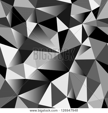 Abstract Gradient Geometric Rumpled Triangular Seamless Low Poly Style Vector Illustration Graphic B