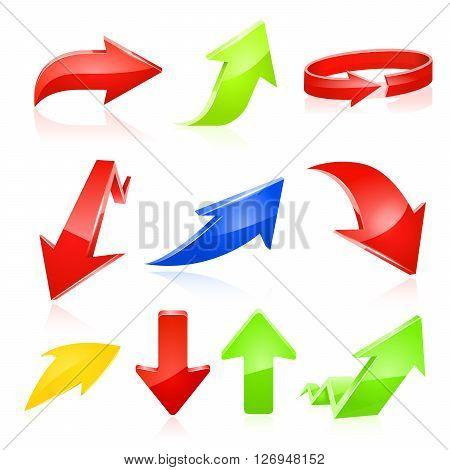 arrow icon set. Vector illustration on white background.