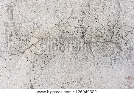 white dirty wall with cracks as background image