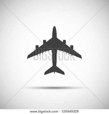 Plane icon simple vector illustration for your website and infographic