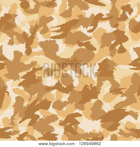 War Desert Camouflage Seamless Vector Pattern. Can Be Used For Wallpaper, Pattern Fills, Web Page Ba