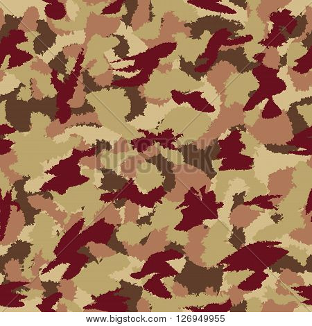 War Universal Savanna Camouflage Seamless Vector Pattern. Can Be Used For Wallpaper, Pattern Fills,
