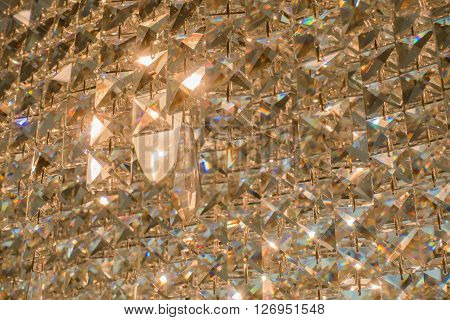 Close Up Of Contemporary Glass Chandelier