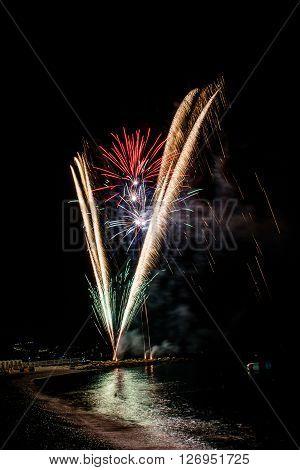 Fireworks to celebrate the patron saint of Noli