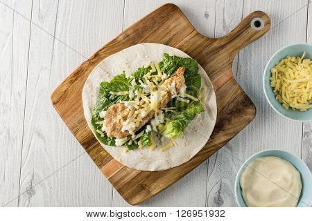 Crumbed Chicken Tortilla Wrap