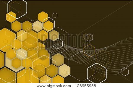 Abstract Hexagon Geometrical Background. Vector Illustration