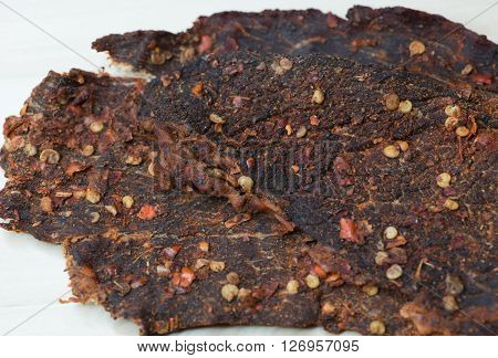 Hot and Spicy Homemade Dehydrated Beef Jerky