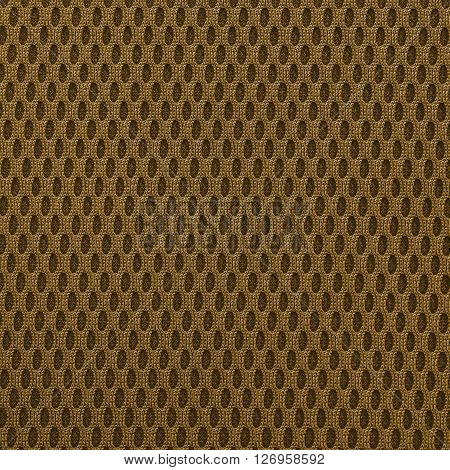 Chocolate multilayer fiber fabric texture. Close up top view.