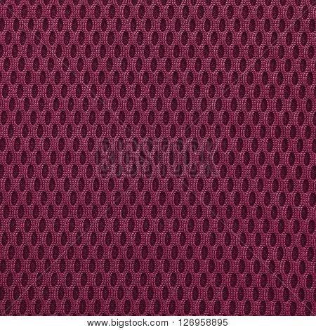 Violet red multilayer fiber fabric texture. Close up top view.