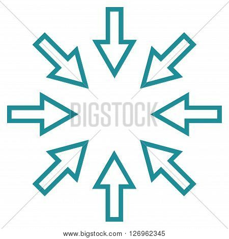 Pressure Arrows vector icon. Style is thin line icon symbol, soft blue color, white background.