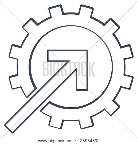 Integration Arrow vector icon. Style is thin line icon symbol, smooth black color, white background.