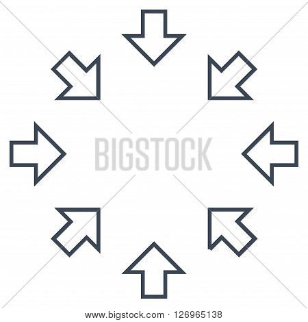 Pressure Arrows vector icon. Style is outline icon symbol, smooth black color, white background.