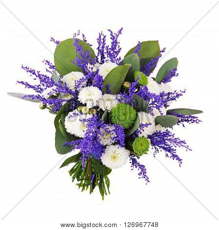 Beautiful Bouquet Isolated On White Background.