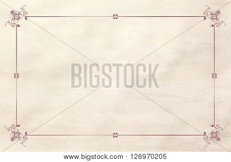 Paper Grungy Background With Vintage Frame