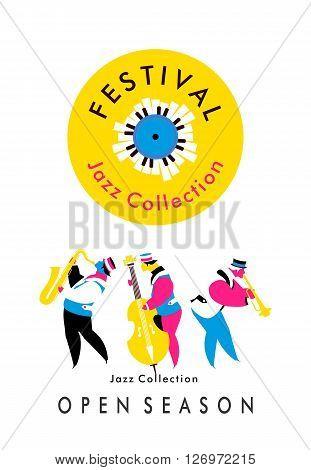 vector poster presentation music band jazz bands