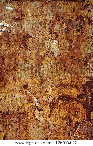 Scrap metal corroded surface detailed texture of old rusty metal plate