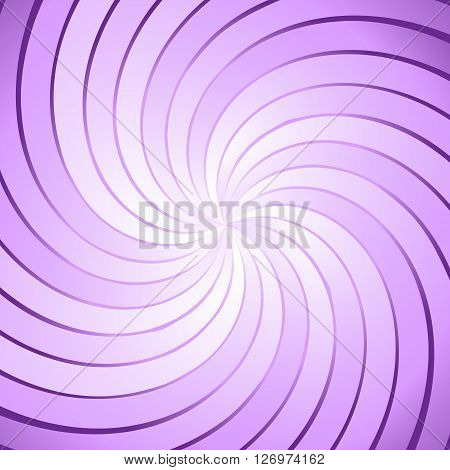 Abstract purple ray twirl background, stock vector