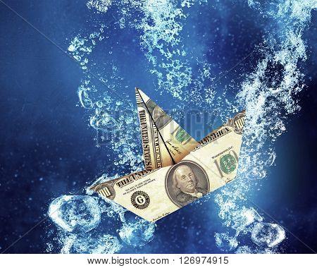 Dollar ship under water