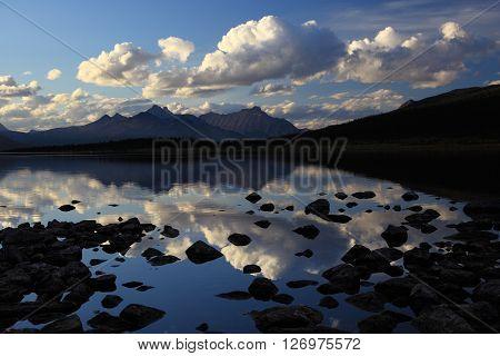 Beautiful dawn reflecting in Amethyst Lake,  Canada