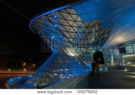 MUNICH, GERMANY - MARCH 12, 2014: BMW World (BMW Welt).