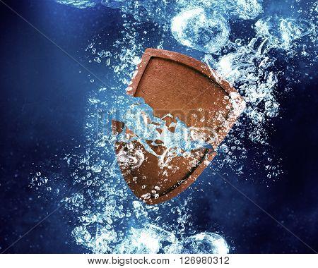 Shield under water